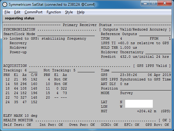 The Sync Channel Blog: Simulating GPS Week Rollover with the Tria GPS