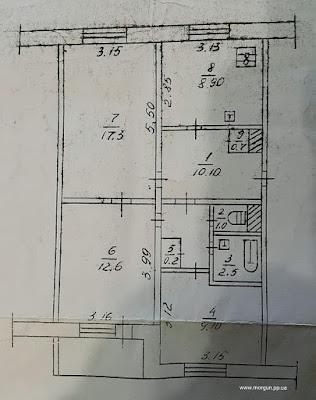 3-комнатная с холлом на Спасской