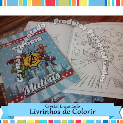 Livrinhos de Colorir Avengers