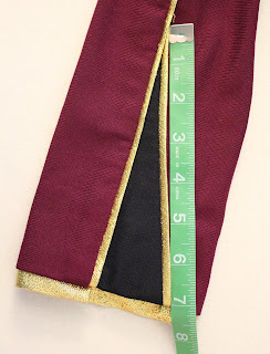 TNG season 1 admiral jacket - sleeves