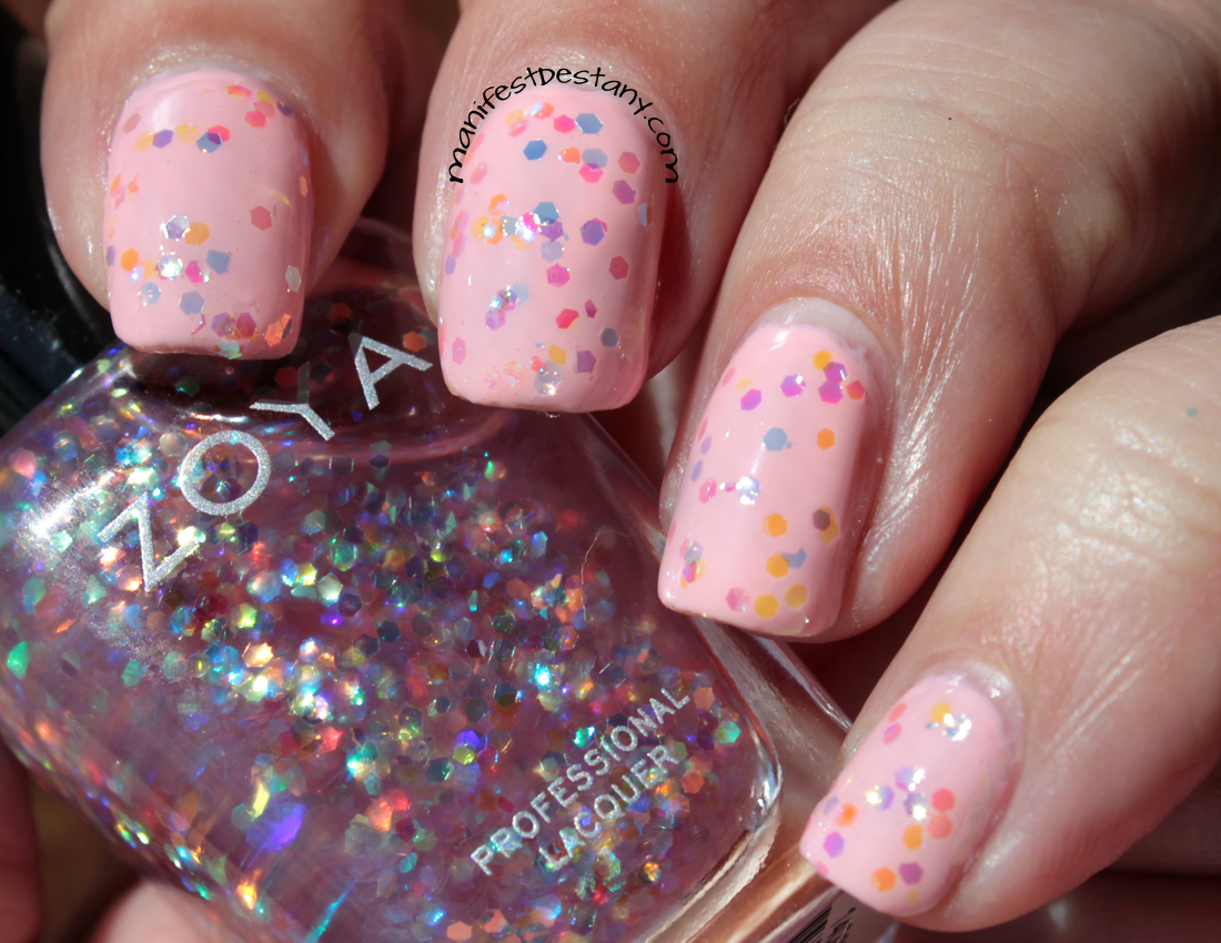 Zoya Monet over pink