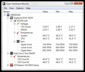 برنامج Open Hardware Monitor يتيح لك مراقبة درجة حرارة المعالج وسرعة  المراوح والفولتية - المجله دوت كوم - الصحة والأسرة