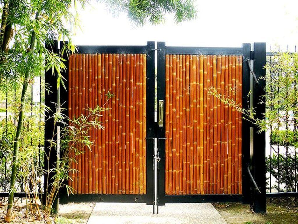 Contoh Cat Pagar Bambu Rumah Minimalis