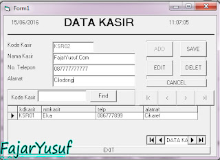 VB6 : Database & Form Kasir (Lanjutan Form Barang)