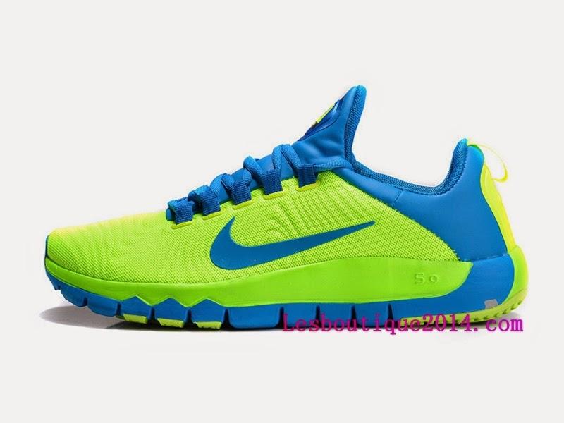 big sale c4e95 a8be0 Nike Free Trainer 5.0 Chaussure de Training Pas Cher pour Homme Noir Vert  644671-070