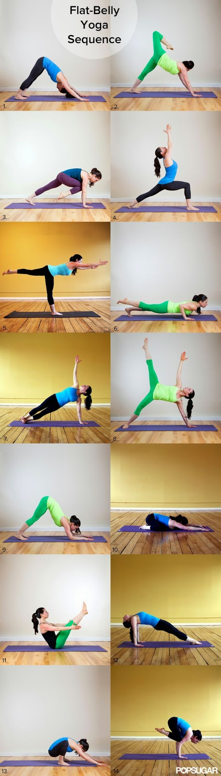 Source: www.PopSugar.com | Flat-Belly Yoga Sequence