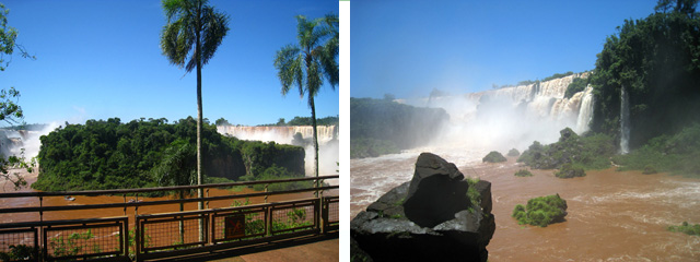 La isla San Martín, inaccesible por la crecida del agua (dcha.) y la piedra más deseada por los fotógrafos