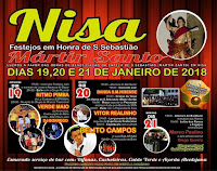 Programa Festa de São Sebastião em Nisa 2018