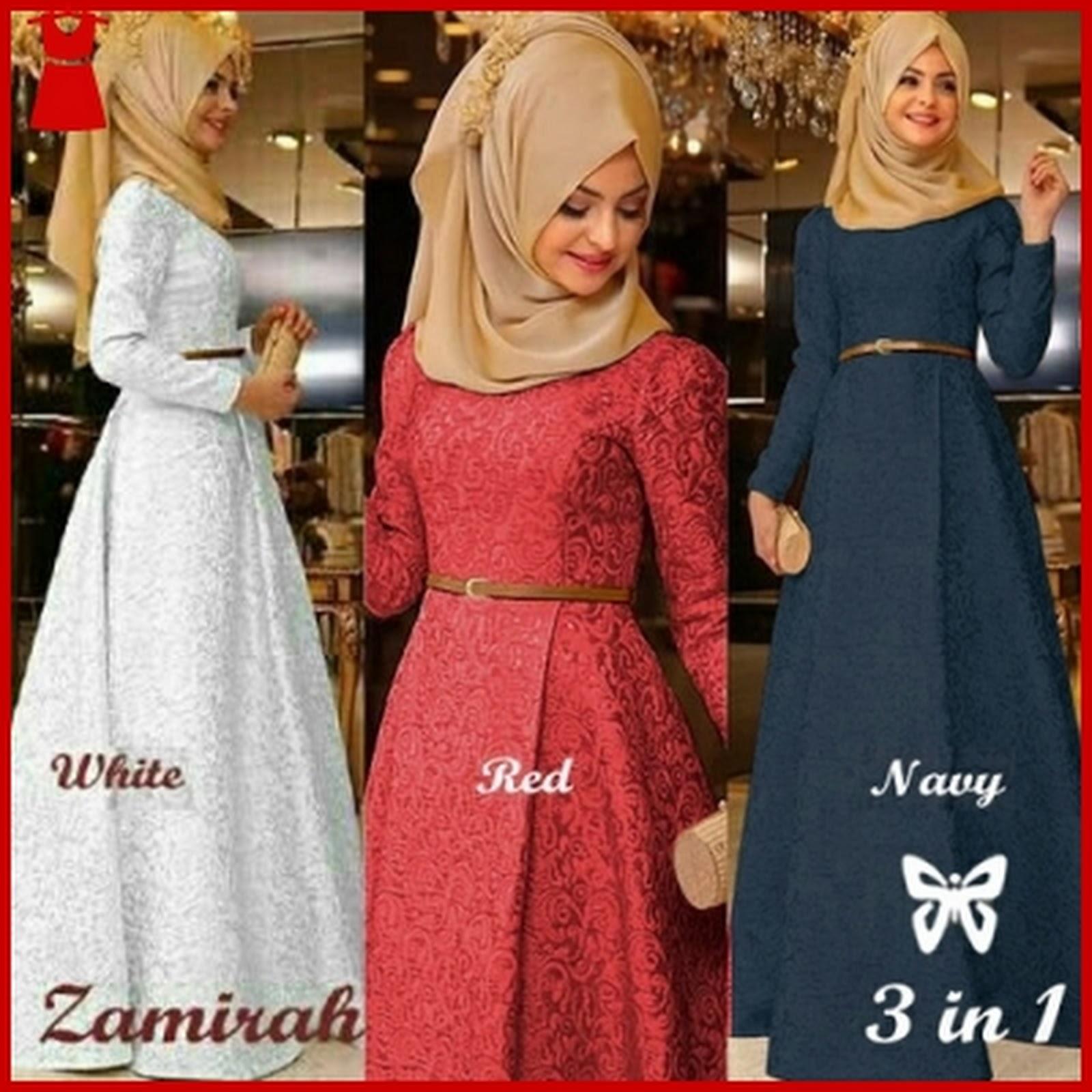 Model Gamis Zaminah Latin Full Pilihan Warna Bj00210