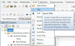 Membuat Template Layout ArcGIS membuat judul peta