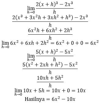 bahas limit turunan fungsi kubik