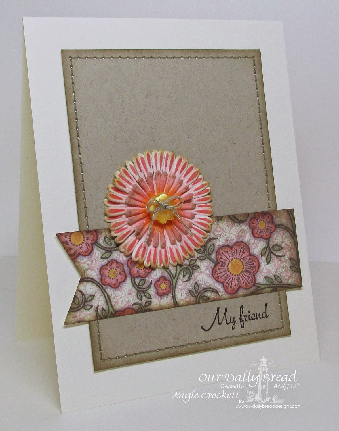 ODBD My Friend, ODBD Custom Asters and Leaves Die Set, ODBD Blooming Garden Designer Paper Collection, Card Designer Angie Crockett