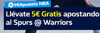 william hill promocion NBA Spurs vs Warriors 11 febrero