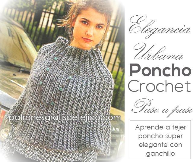 Colección de 20 Ponchos para Tejer / Tutoriales Crochet y Dos Agujas ...