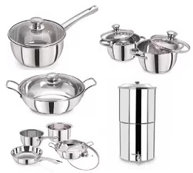 Prestine Stainless Steal Cookware & Serveware – upto 40% Off @ Amazon