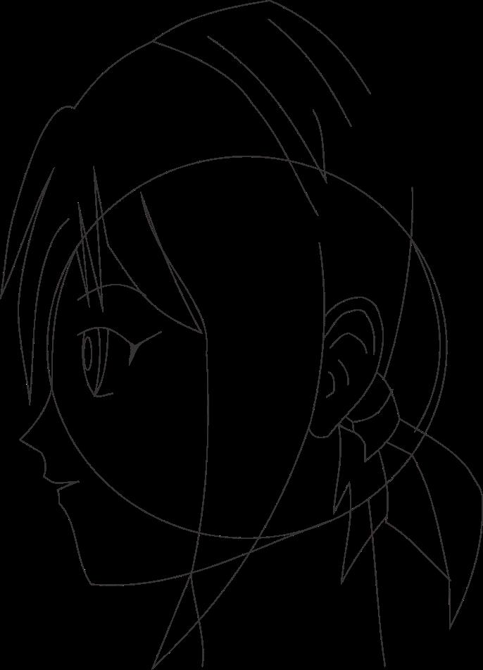 Cara menggambar wajah anime tampak samping