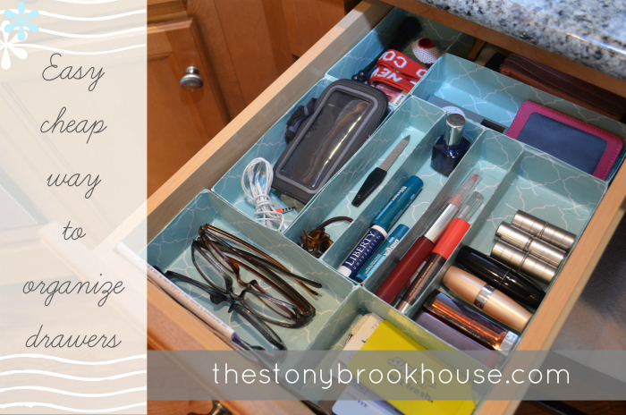 Easy Cheap Way to Organize Drawers