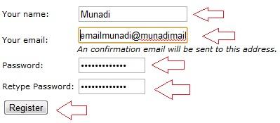 Formulir pendaftaran di www.FreeOnlineUsers.com