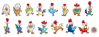 Rooster characters created by Imagine That! Design