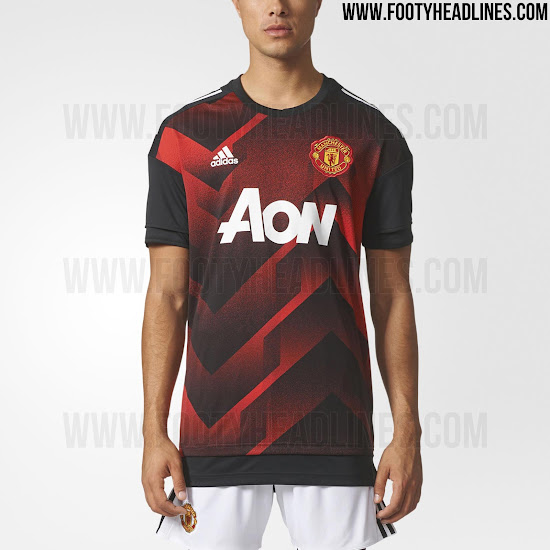 b3aac13f354 Stunning Manchester United 17-18 Pre-Match Shirt Leaked - Footy ...