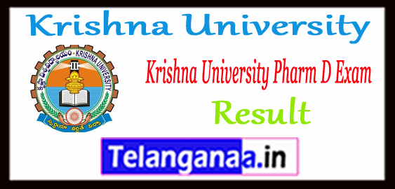 Krishna University Pharm D 1st 2nd 3rd 4th 5th Year Result 2017 -18