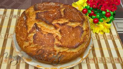 chleb pieczony w naczyniu żaroodpornym bez wyrabiania