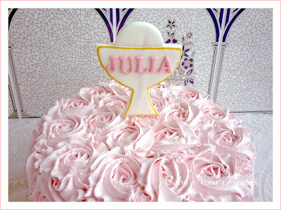 tarta rosas comunion