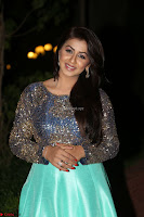 Nikki Galrani in Green Skirt  Top at Marakathamani music launch ~  Exclusive (58).JPG
