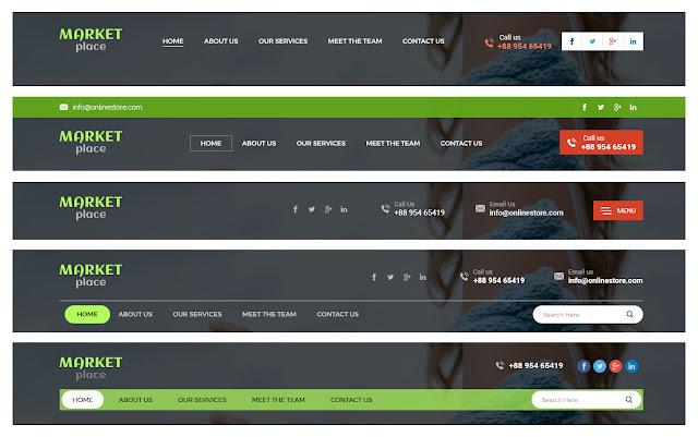 Making creative website headers design