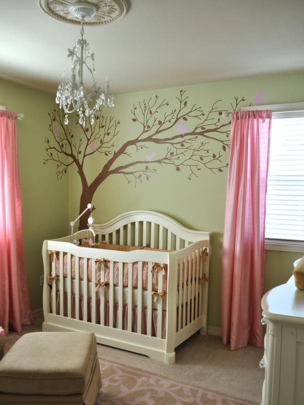 Dormitorios de beb en rosa y verde  Dormitorios colores