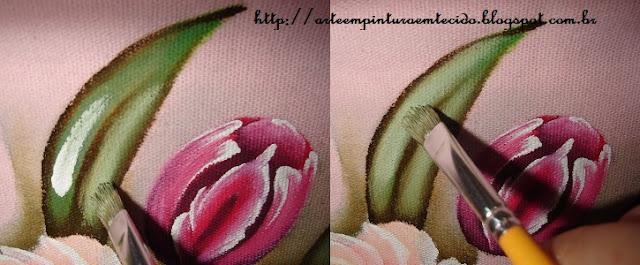 pintura em tecido passo a passo folha