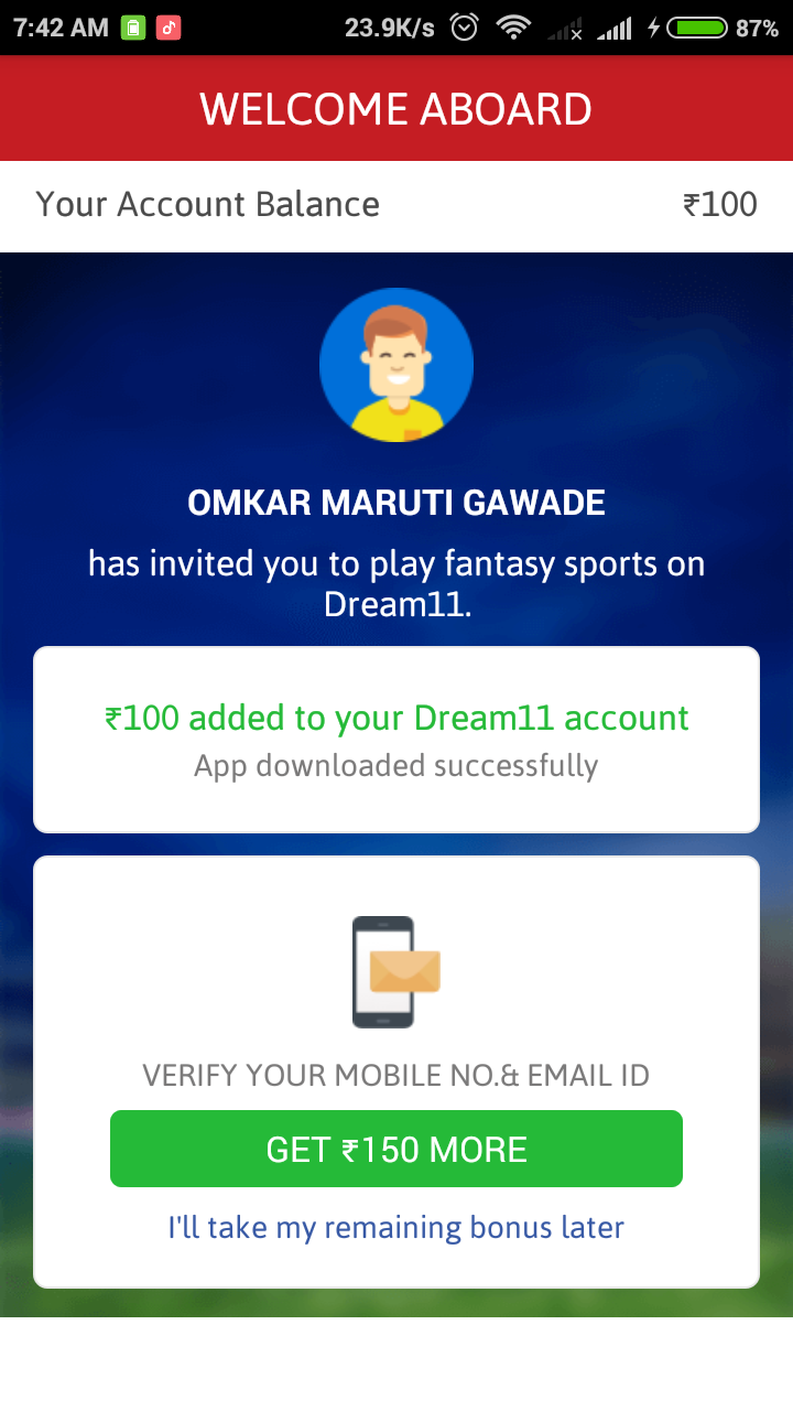No Pan Needed Now } Dream11 Fantasy Cricket : Get Rs 250