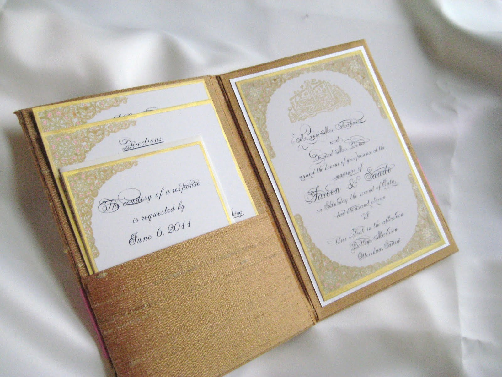 Intricate Hand Drawn Folio Invitation