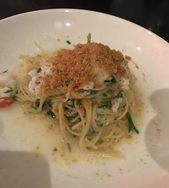 Fatto Bar & Cantina, Melboune, spaghettini with spanner crab