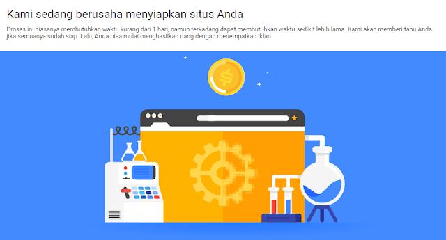 Cara Mengatasi Kami Sedang Berusaha Menyiapkan Situs Anda  Pada Google Adsense