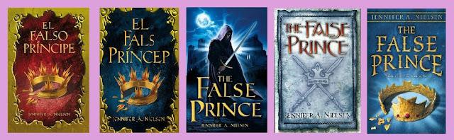 Portadas de la novela de fantasía juvenil El falso príncipe
