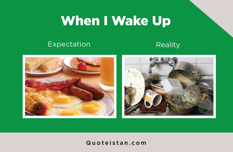 Expectation Vs Reality: When I Wake Up