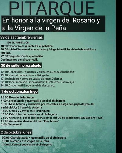 Fiestas de la Vírgen del Rosario y de la Vírgen de la Peña