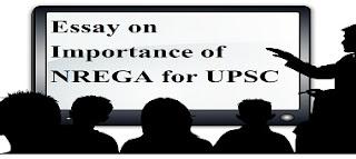Essay on Importance of NREGA for UPSC