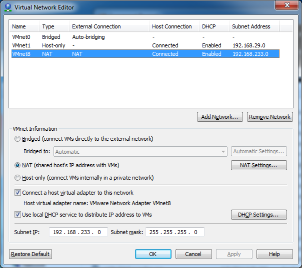 Fardad's Corner: VMware Player and Custom NAT port map settings