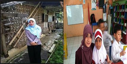 Berikut Profil Guru TK Cantik Yang Tinggal di Rumah Kurang Layak Huni