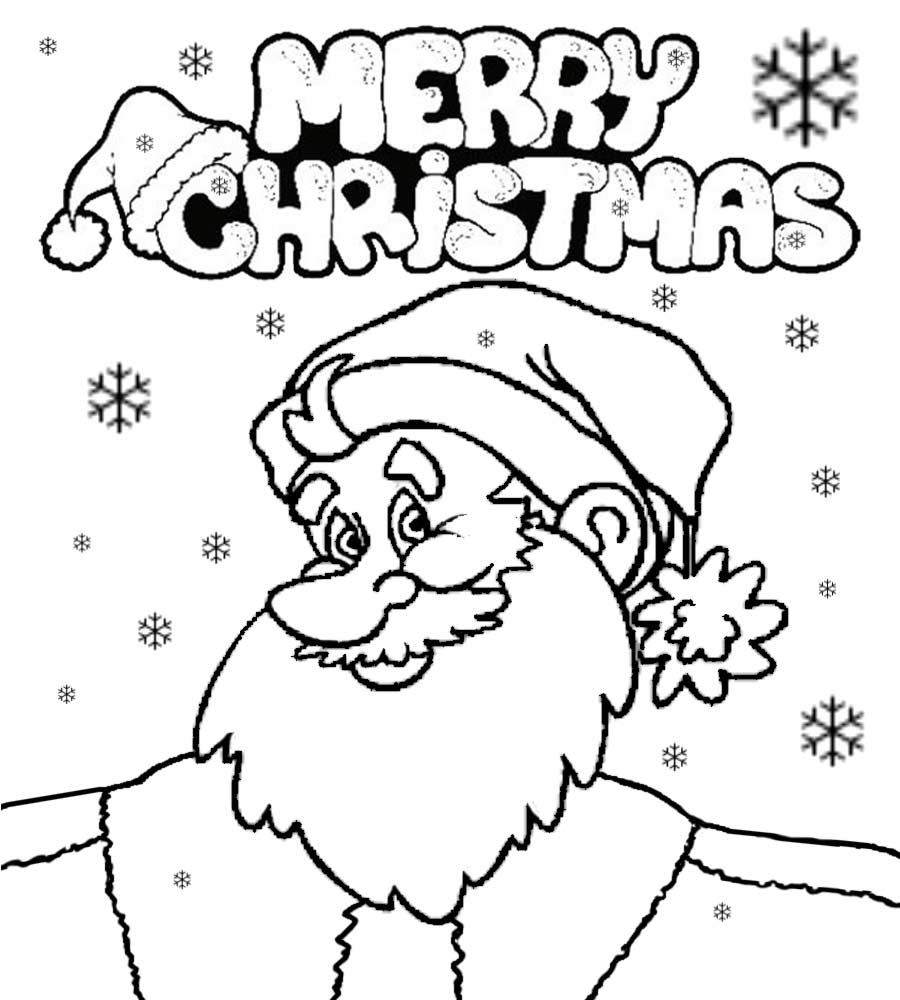 happy merry creative drawing ideas farther christmas santa claus cute coloring pages for teenagers