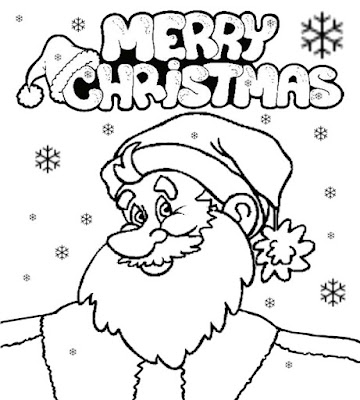Happy & merry creative drawing ideas Farther Christmas Santa Claus cute coloring pages for teenagers