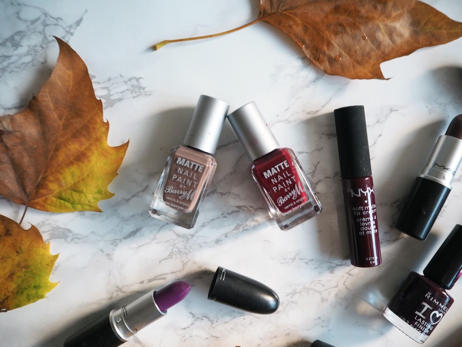 Autumn Lipstick & Nail Varnish Picks // Fall Make-up Beauty Flaylay // Lauren Rose Bell // Fashion Beauty Lifestyle blogger London // Bbloggers