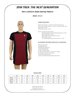 Star Trek TNG Men's Skant Sewing Pattern