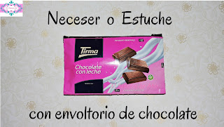 estuche con envoltorio de chocolate