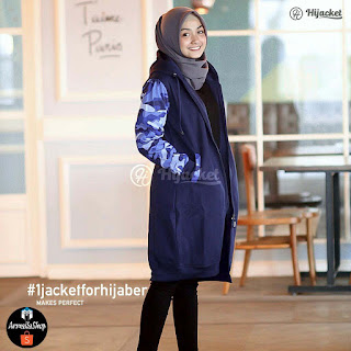 Hijacket Blue Army Sweet Camuflashion Blue Size M, L, XL [JAKET CEWE]