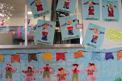 Mural Escolar De Festa Junina