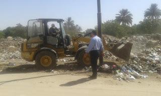 حملة نظافة موسعة بمدينة الخانكة