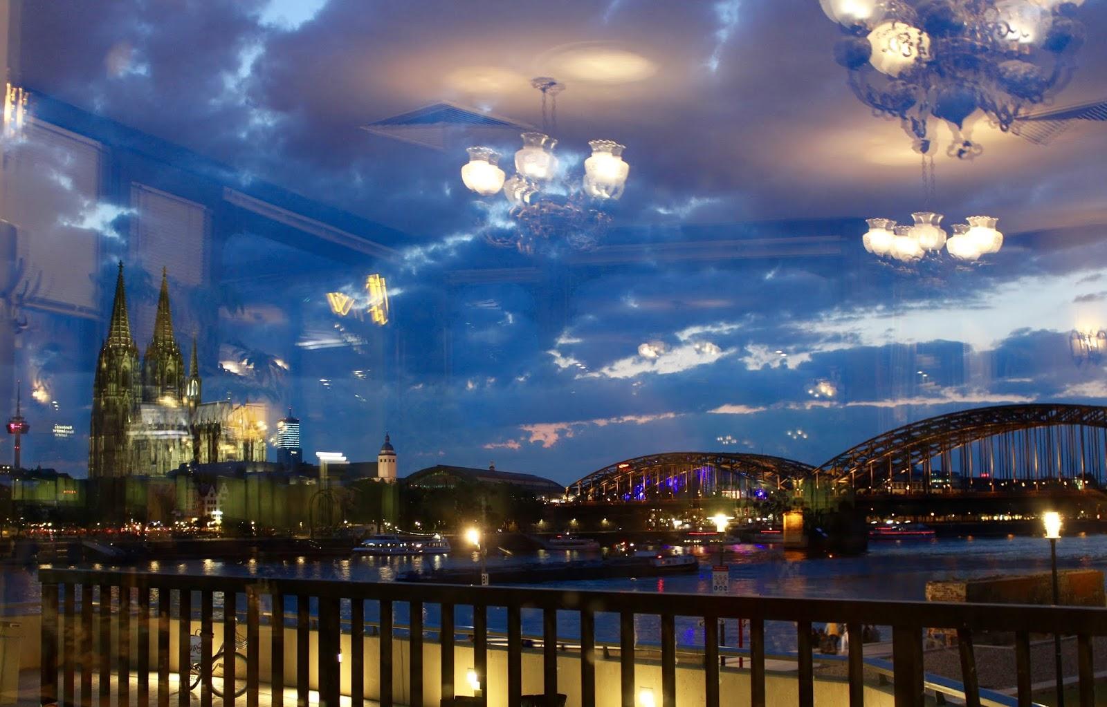 Meine Heimatstadt Köln vom Restaurant Oasis aus gesehen